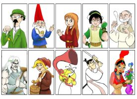 Ten characters from animation cinema by Chevic