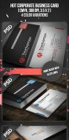 Hot Corporate Business Card by VadimSoloviev