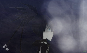 Black Rock Shooter's tear by 0Eka0