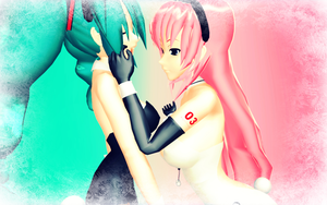 miku luka wallpaper for tasmin by Rainrocker