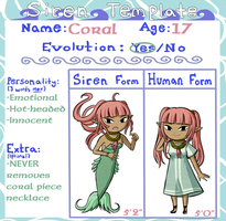 Siren Template: Coral by Icy-Snowflakes