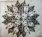 Drawing - Flower  - Pattern by AytenSharif11
