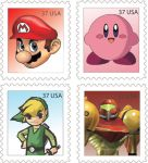 Nintendo Stamps by MyPantsAreMissing