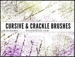 Cursive and Crackle Brush Pack by brushchick
