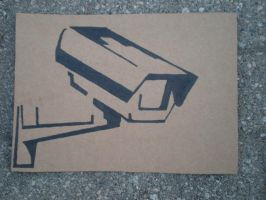 Security Camera Stencil by SoLKoNE