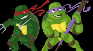 Raphael and Donatello by Shellsweet