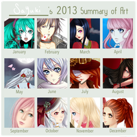 2013 Summary of Art by Sayuki-hime