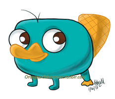 Baby Perry the Platypus by OrangeBlueCream