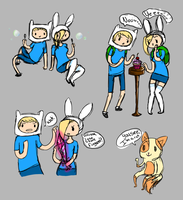 finn and fionna by usagiseme