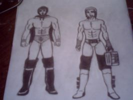 Austin Aries And Dolph Ziggler (old) by X-Prince-Connor-X