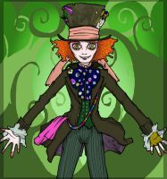 Tim Burton - Mad Hatter by 9Timothy9