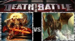 Death Battle: Cthulhu vs God Emperor by MadnessAbe