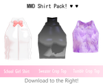 [MMD] Shirt Pack 1 / Download! by sailorconfessions