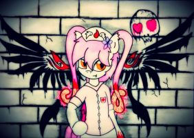 Ebola-chan pony by Kaboderp-sketchy