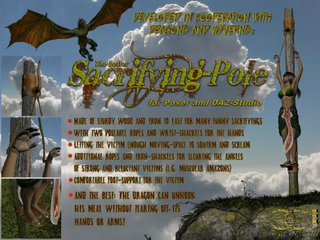 Sacrifying-Pole for Poser and DAZ-Studio by ancestorsrelic
