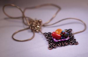 Candy Crush Saga Square Charm Necklace by XiaoMai0703