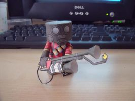 TF2 Paper Craft Pyro by ZombiesILove