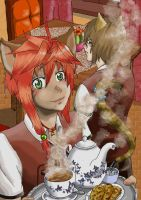 Tea time by kiba-chan27