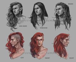 Maedhros head designs by jyongyi