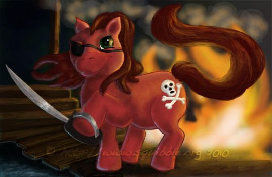 Pirate Pony by squibble
