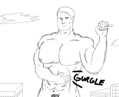Giant Andrew in the City 3: Uh oh... by falchiongamma