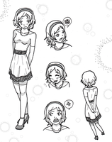 Character Sheet Girl 1 by PhantomClark