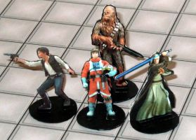 2-D paper miniatures: Rebels by momirfarooq