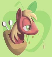 Portrait o' Big Macintosh by JustDayside