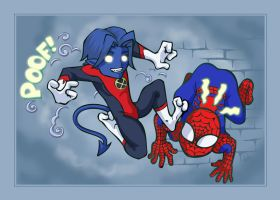 Nighty and Spidey by bandeau