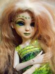 Green Face up on Bobobie Isabelle bjd doll by PhotoChick180