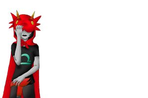 Sad Terezi color with white backgrouhd by heroic-dreamwalker