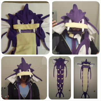 Pokemon GYARADOS CUSTOM COMMISSION SCOODIE by Aleeart7