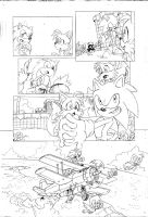 Sonic 4 Episode 2, pencils page 4 by Yardley