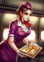 Flight Attendant by WUDUO