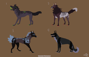Canine Adopts 9 [Point Option Added!] by Adopt-Monstar