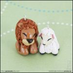 Lion and Lamb Charms by junosama
