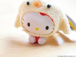 Hello Kitty In Chick Costume by ImSugarRibbon