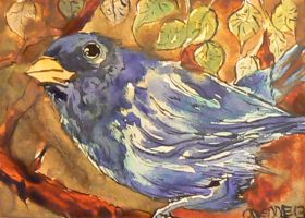 Blue Finch by drawing-blue