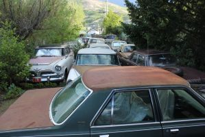 Yard full of cars by finhead4ever