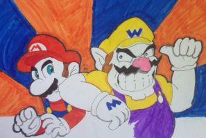 Mario and Wario by MckayComix