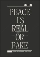 :: Peace is Real or Fake :: by AliTalahi