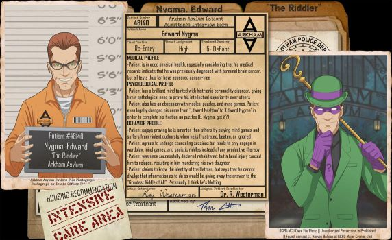 Arkham Files - The Riddler by Roysovitch