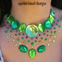 Green Rhinestone Speckle by Natalie526