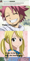 Lucy and Natsu Question 10 by AdvancedCelabration