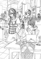 CLAC: Suasana Cafe Lineart by Syndicth