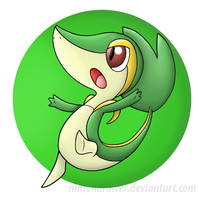 Snivy by Nintendrawer