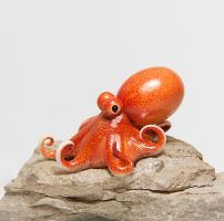 Octopus Figurine by RamalamaCreatures