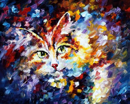 CAT 2 by Leonid Afremov by Leonidafremov
