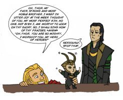 Thor is an annoying big brother by LamechO