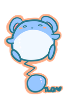 Pokemon: Chubbyyyy Marill by TheLonelyQueen